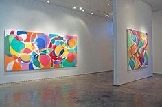 Installation view of Graciela Hasper, Sicardi Gallery, Philadelphia Museum Of Art, Light Installation, Museum Of Fine Arts, Contemporary Artists, Art History, Art Gallery, Tapestry, Abstract, Canvas