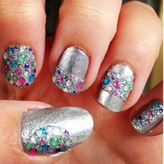 Jeweled nails!