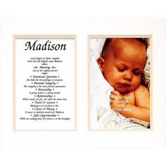 Townsend FN02Gabriella Personalized Matted Frame With The Name & Its Meaning - Gabriella, As Shown