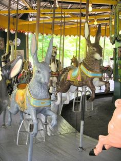 carousel rabbits. ...Pamela Hood has a whole board of Carousel animals-! : )