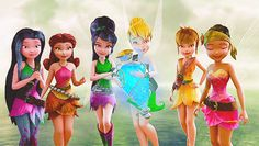 Silvermist, Rosetta, Vidia, Tinker Bell, Fawn and Iridessa