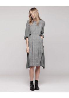 Toga Pulla | Check Wool Dress | La Garçonne