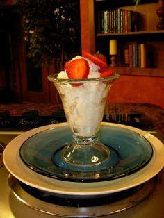 Healthy Ice Cream (Made with yogurt and fat free milk)