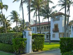 A West Palm Beach, mansion in Florida, USA