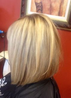Long Bob, slightly inverted with light layers.. Great for fine hair.