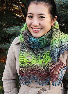 Druadan Forest Crochet Scarf Pattern on Ravlery