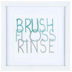 Brush Floss Rinse Framed Wall Decor (scheduled via http://www.tailwindapp.com?utm_source=pinterest&utm_medium=twpin)