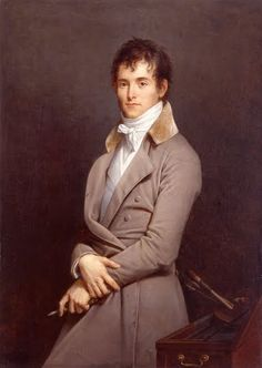 """Portrait of Jean-Baptiste Paulin Guérin, 1801 by Robert-Jacques-Francois-Faust Lefevre - Jean-Baptiste Paulin Guérin (1783 – 1855), French painter, was born at Toulon, of poor parents. In 1810 Guérin made his first appearance at the Salon with some portraits, which had a certain success. In 1812 he exhibited """"Cain after the murder of Abel"""" & on the return of the Bourbons, was much employed in works of restoration & decoration at Versailles."""