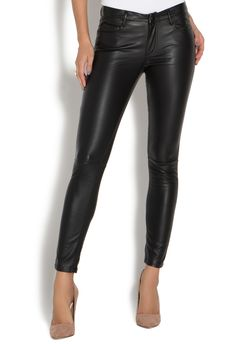 Spice up your life and your look with the Faux Leather Pant by JustFab. A…