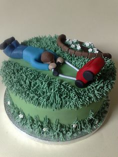 Fathers Day Cake idea - For all your cake decorating supplies, please visit craftcompany.co.uk