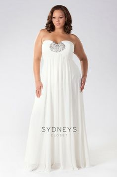 2 in 1 plus size wedding dresses
