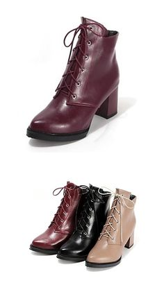 The perfect pair of lace-up boots to wear with your winter coat. Click for more details.