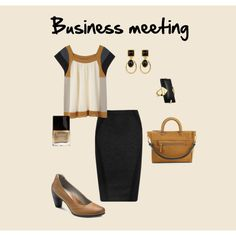 """Business meeting"" by Krasimira Business Meeting, Women's Shoes, Shoe Bag, Polyvore, Stuff To Buy, Shopping, Clothes, Collection, Design"