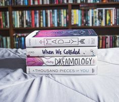 "taylorreadsbooks: "" I feel like these four books are made for each other. I'm in the middle of Dreamology and I love it so so much! I haven't fallen for a YA book this hard in a long time. I highly..."