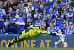 Kasper Schmeichel had a stunning game in the Leicester City goal against Chelsea