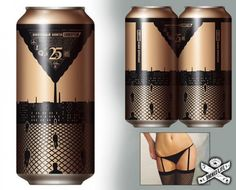 Beer Cans Form Fishnet Stockings, Garter, and Panties. How to get people to buy two cans instead of one.. panties, fishnet, cans, design, beers