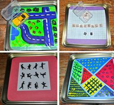 Tin games for car trips.