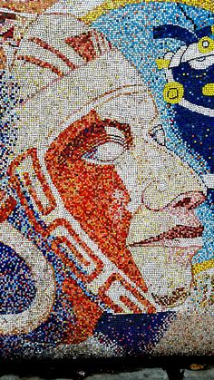 Trujillo, Peru. The largest Ceramic Mosaic Tile Mural in South America. Happened upon out of the blue. Designed by Artist Rafael Hastings and covering the grounds of the Universidad Nacional de Trujillo in Trujillo, Peru. Spectacular find. Original Photography by R. Stowe.