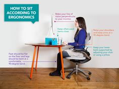 How to Sit According to Ergonomics #health #posture #sitting