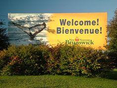 ... down through beautiful New Brunswick...