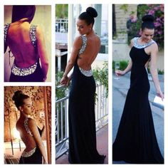 Black Open Back Prom Dresses,Off the Shoulder Beaded Long Prom Dresses,Backless Sheath Evening Dress Prom ,Sexy Prom Gown ,Charming Party Dress
