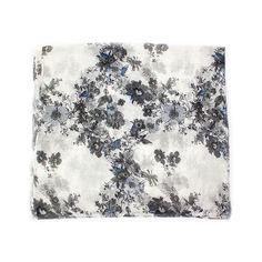 Eșarfă print floral gri