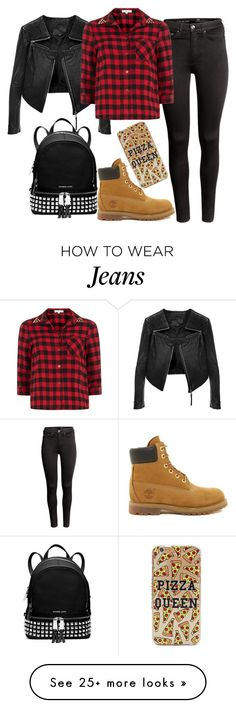 """""""Untitled#1308"""" by mihai-theodora on Polyvore featuring H&M, Linea Pelle, Dorothy Perkins, Timberland and Michael Kors"""