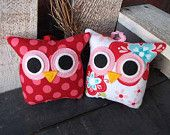 Owl Pillows - I just need owl everything in my house!!