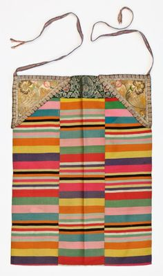 Pangden. An apron worn by married women of Tibetan origin. Traditionally hand dyed and hand woven from local wool. Wind resistant and sturdy. Woven in narrow panels that were stitched together. Love all the rich colors and stripe variations.