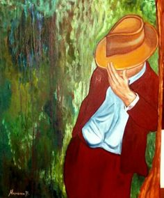 50 X 50cm oil painting  (artwork  Marietta Vasilaki )