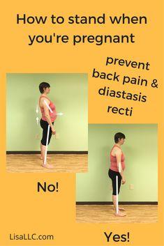 Tips to relieve pregnancy pain, prevent diastasis recti, pregnancy back pain.