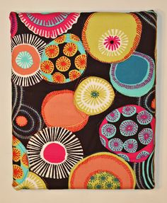 andie johnson sews: Canvas Quilt Art Tutorial...have some really bold material and some really girlie ones I can do for girls room...