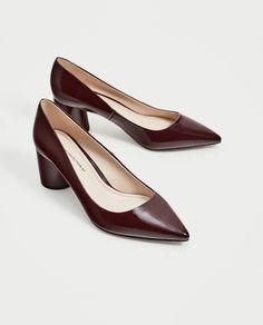 Zara Brown High Heeled Shoes (UK Ladies Size 5) LC