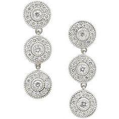 Charriol 'Flamme Blanche' Diamond Earrings on rental for $51 a week
