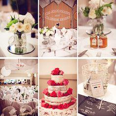 Wedding table ideas via One Fab Day wedding blog
