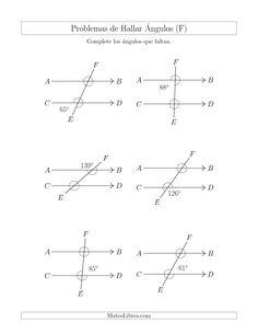 Medir Ángulos Entre 5° y 355° (A)   Educación   Pinterest