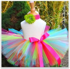 Tutu - sewn birthday tutu for girls includes headband set. $25.00, via Etsy.