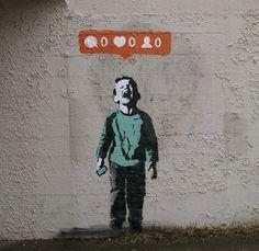 """Nobody Likes Me,"" street art in Stanley Park. i love this"