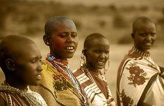 Mujeres Masai, cantos tradicionales -   Masai women, traditional songs (August 2005)    www.vicentemendez.com