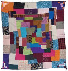 Kawandi quilt, Siddi People, possibly made in Karnataka, India, circa 1975, 85.5 x 79.5 in, IQSCM 2007.002.0009