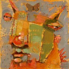 Flutter Buzz, painting by artist Brenda York