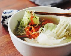 Vegan Naengmyun: noodles in chilled sweet, savory, piquant broth made of quick pickled daikon and earthy veggies. It's so cooling, healthy, and delicious.