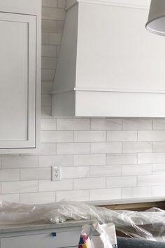 How to Install a Tile Backsplash Pt. 2 - Provident Home Design Brick Porch, Brick Steps, Parade Of Homes, Painting Cabinets, New Builds, Backsplash, Decoration, New Homes, Ideas
