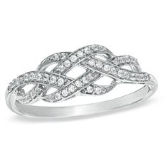 Diamond Infinity Knot Ring in Sterling Silver at Gordon's Jewelers - CT. Diamond Infinity Knot Ring in Sterling Silver. Infinity Knot Ring, Double Infinity, Infinity Promise Rings, Knot Promise Ring, Eternity Rings, Jewelry Rings, Jewelry Accessories, Diamond Jewelry, Gold Jewelry