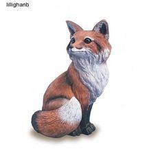 Garden Fox Statue Decor Outdoor Yard Lawn Sculpture Forest Animals Home Figurine