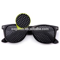 OXGIFT China Supplier Wholesale Manufacturing Factory Prices Amazon Black Small holes Pinhole glasses
