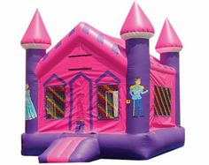 Huge Inflatable Princess Bounce House For Rent In The Madison WI Area Only 17500 Per