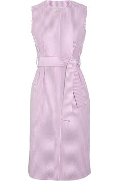Striped cotton-seersucker dress  (Add a white blouse or tee underneath and away we go. CH)