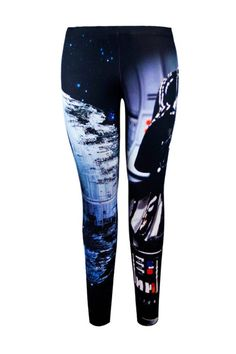 Introducing the newest collection of Star Wars Leggings! These leggings are designed to look just like Darth Vader and the Death Star. Perfect for lounging, costume, or work. Geek Fashion, Star Fashion, Woman Fashion, Outer Space Costume, Star Wars Outfits, Star Wars Clothes, Space Costumes, Star Wars Merchandise, Disney Merchandise