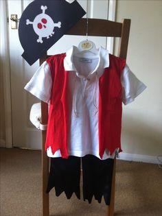 DIY pirate kids costume